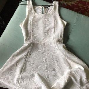 Express White Skater Dress